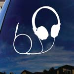 Headphones Music Silhouette Car Window Vinyl Decal Sticker 6