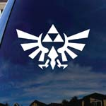 Zelda Wings Symbol Triangle White Car Window Vinyl Decal Sticker 6