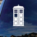 Doctor DW Police Box Who White Car Window Vinyl Decal Sticker 6