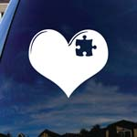 Austism Love Heart Puzzle Car Window Vinyl Decal Sticker 5