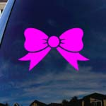 Bow Tie Pink Car Window Vinyl Decal Sticker 5