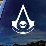 Assassin's Symbol Skull Car Window Vinyl Decal Sticker 4