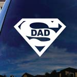 Super Dad Car Window Vinyl Decal Sticker 4