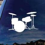 Drums Silhouette Music Instruments Car Window Vinyl Decal Sticker 5