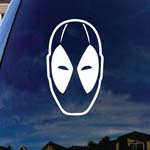 Dead Comic Pool Face Silhouette Car Sticker Decal 5