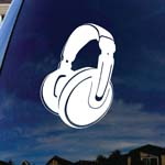 Headphones Music Silhouette Beats Car Window Vinyl Decal Sticker 6