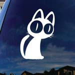 Kuroneko Sama Cat Silhouette Car Window Vinyl Decal Sticker 5