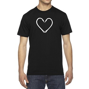 Men's Fishing Hook Heart Love T-Shirt