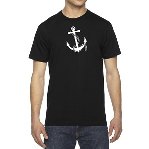 Men's Anchor & Rope Chain Boat Ship T-Shirt