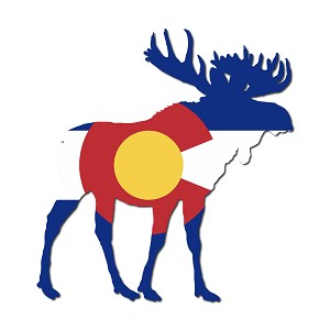 Colorado Moose Sticker