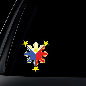 Philippine Flag Sun Car Decal / Stickers