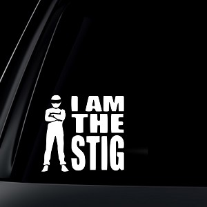 I Am The STIG Car Decal / Sticker