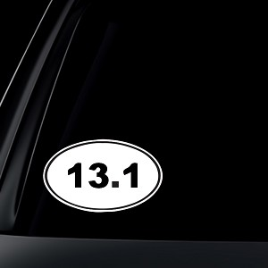 13.1 Marathon Euro Oval Car Decal / Sticker