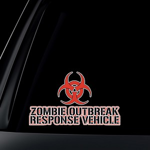 Zombie Outbreak Response Vehicle Car Decal / Sticker