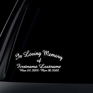 In Loving Memory Car Decals >> Custom In Loving Memory Car Decal Sticker