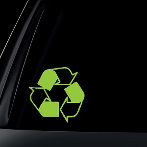 Recycle Logo Car Decal / Sticker
