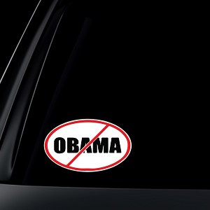Anti Obama: STOP Obama Car Decal / Sticker