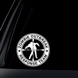 "Zombie Outbreak Response Team ""Zombie Target"" Car Decal / Sticker"