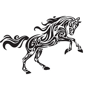 DIY Black Horse Wall Art Vinyl Wall Decal Removable Wall Stickers Baby Nursery Mural Wall Art Home Room Decor