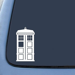 DW Tardis Whovian Sticker Decal Notebook Car Laptop