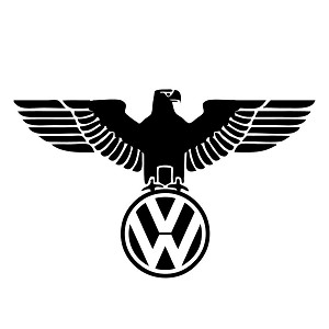VW Eagle Parody Sticker Decal Notebook Car Laptop