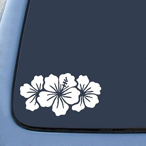 Hibiscus Group Sticker Decal Notebook Car Laptop