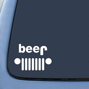 Jeep Funny Beer Sticker Decal Notebook Car Laptop