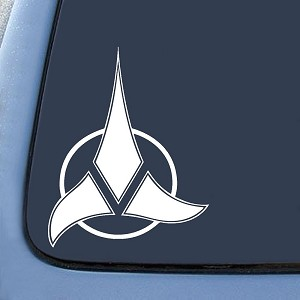 Klingon Empire Symbol Sticker Decal Notebook Car Laptop