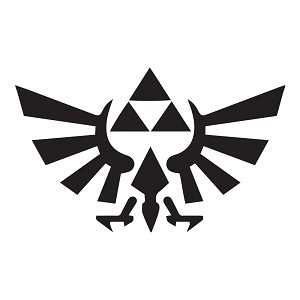 TRIFORCE Logo Wings Sticker Decal Notebook Car Laptop