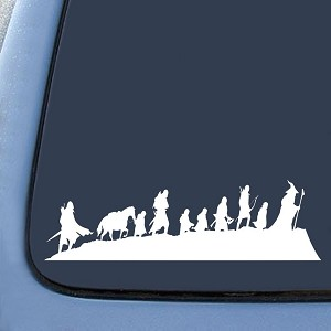 LOTR Caravan Fellowship Sticker Decal Notebook Car Laptop