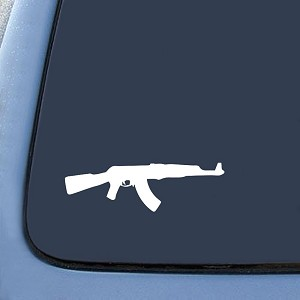 AK-47 Assault Rifle Sticker Decal Notebook Car Laptop