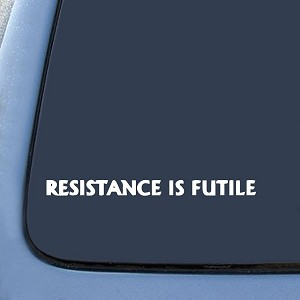 RESISTANCE IS FUTILE Borg Sticker Decal Notebook Car Laptop