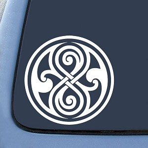 Whovian Seal of Rassilon Sticker Decal Notebook Car Laptop
