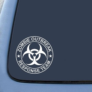Zombie Outbreak Response Team Sticker Decal Notebook Car Laptop