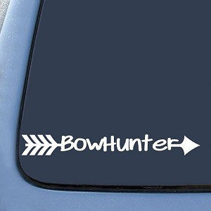Bow Hunter Deer Hunting Sticker Decal Notebook Car Laptop