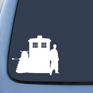 Dalek Tardis Doctor Sticker Decal Notebook Car Laptop