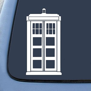 Police Box Tardis Sticker Decal Notebook Car Laptop