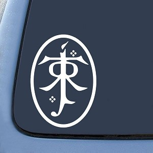 LOTR Tolkien Symbol Sticker Decal Notebook Car Laptop
