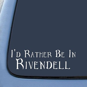 LOTR I'd Rather Be In Rivendell Sticker Decal Notebook Car Laptop