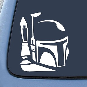 Boba Fett Helmet Sticker Decal Notebook Car Laptop