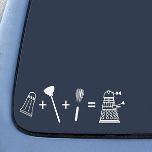 Dalek Inspired Evolution Sticker Decal Notebook Car Laptop