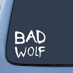 Bad Wolf Graffiti Sticker Decal Notebook Car Laptop