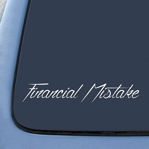 Financial Mistake JDM Drift Sticker Decal Notebook Car Laptop