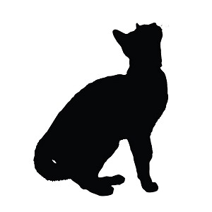 Cat Kitten Silhouette Sticker Decal Notebook Car Laptop