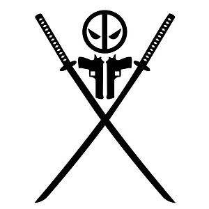 Symbol Cross Swords 1 Sticker Decal Notebook Car Laptop
