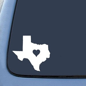 Texas Love State Sticker Decal Notebook Car Laptop