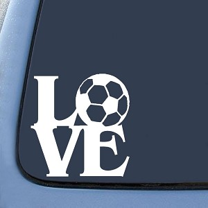 Love Soccer Sticker Decal Notebook Car Laptop