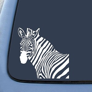 Zebra Head Sticker Decal Notebook Car Laptop
