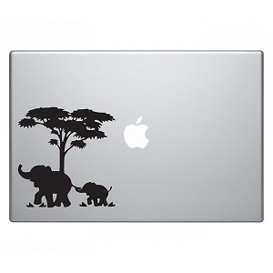 Mom and Baby Elephant Macbook Sticker Decal Notebook Car Laptop