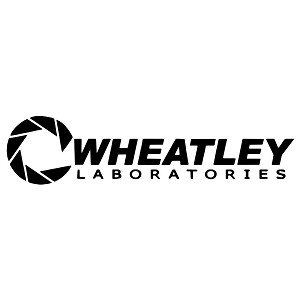 Aperture Science Wheatley Laboratories Portal Logo Sticker Decal Notebook Car Laptop